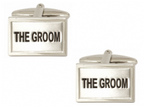Dalaco 90-229 The Groom Wedding Rhodium Plated Cufflinks